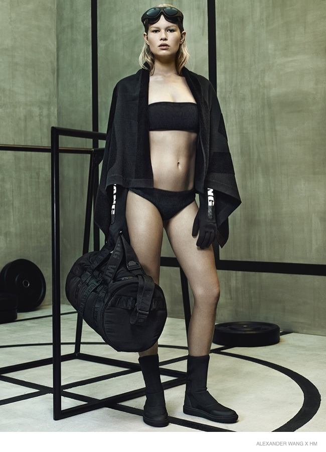 Anna Ewers stars in the Alexander Wang x H&M Lookbook