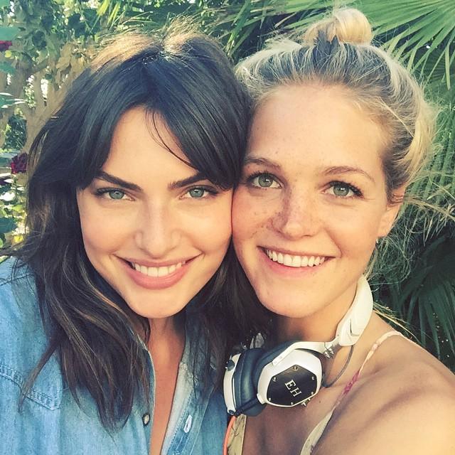 Alyssa Miller and Erin Heatherton connect
