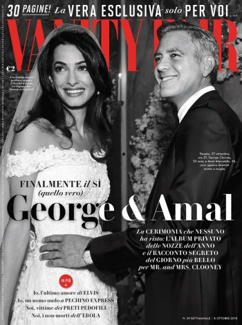 Newlyweds Amal Alamuddin + George Clooney Cover Vanity Fair Italy