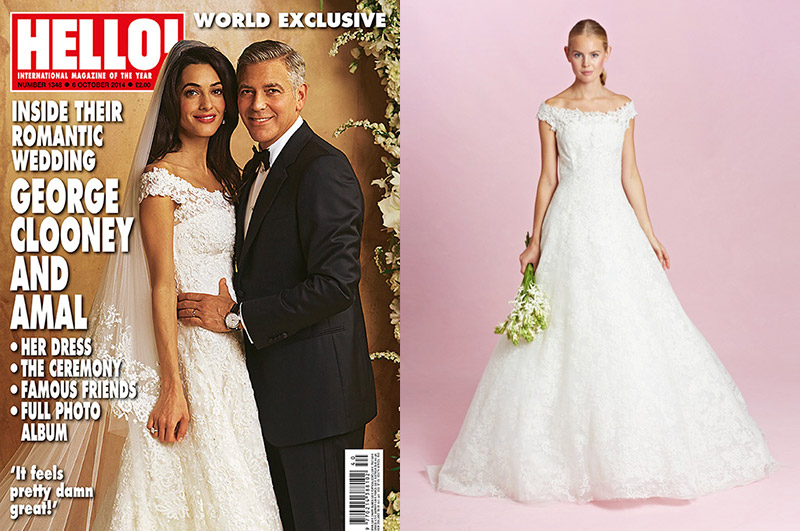amal wedding dress copy Oscar de la Rentas Fall 2015 Bridal Collection Shows Amal Alamuddin Inspired Gown