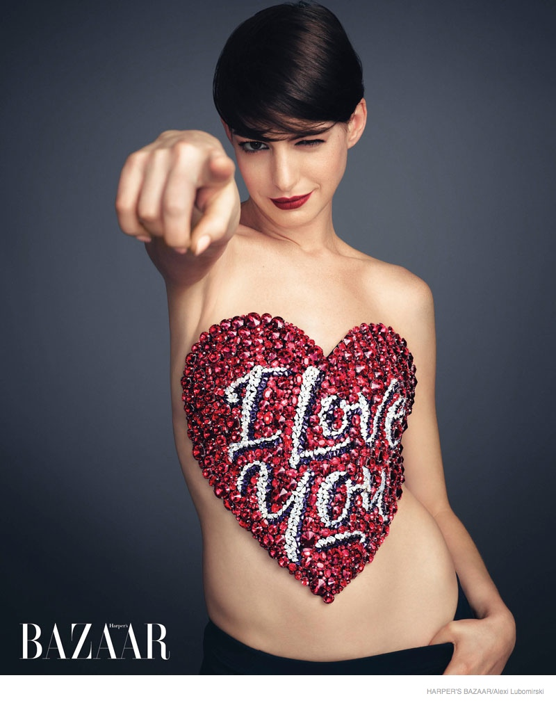 "Anne Hathaway Poses for Harper's Bazaar, Talks ""Interstellar"" Role"
