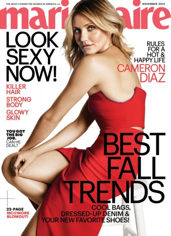 "Cameron Diaz Covers Marie Claire, Reveals ""Annie"" Role Fears"