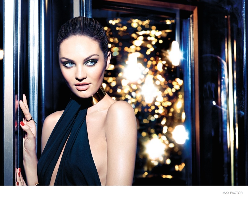 Candice Swanepoel Goes Brunette for Max Factor Christmas 2014 Campaign