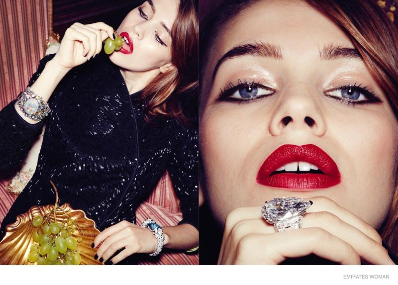Cartier Gems: Iulia Shines in Emirates Woman October 2014