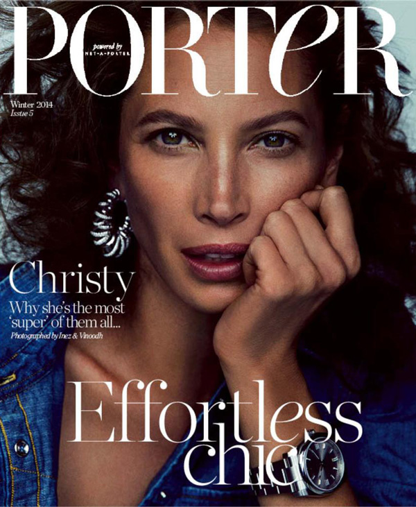 christy turlington lands 2 covers for porter magazine. Black Bedroom Furniture Sets. Home Design Ideas
