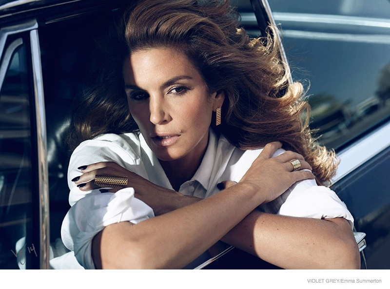 Cindy Crawford is Movie Star Glam for Violet Grey Shoot