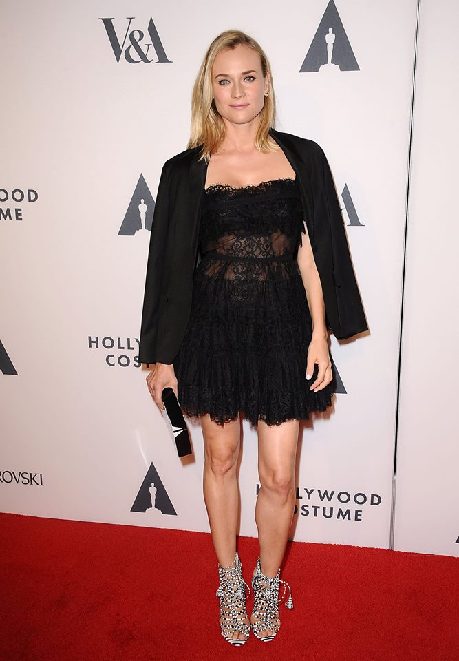 Diane Kruger Wears Lace Elie Saab Dress at 'The Academy of Motion Picture Arts & Sciences' Event