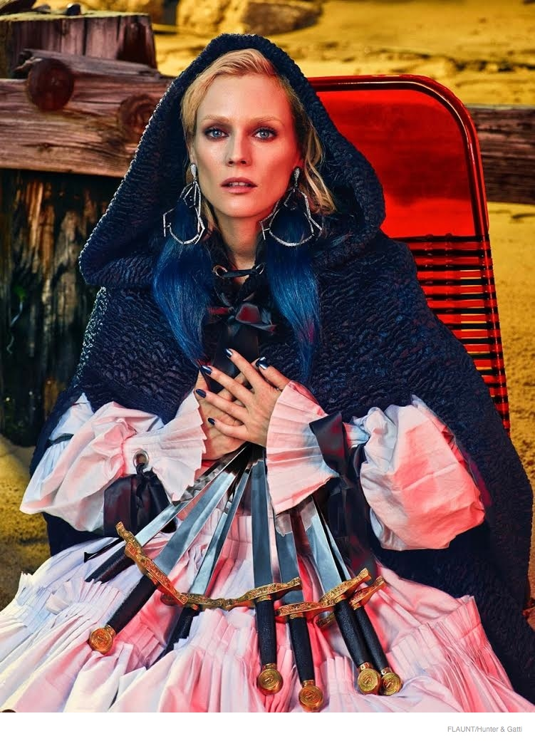 Diane Kruger Gets Edgy for Flaunt Shoot by Hunter & Gatti