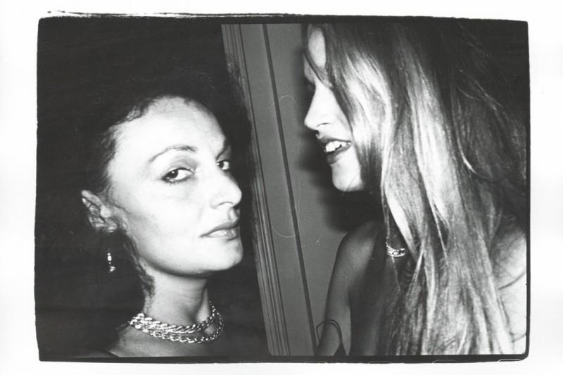 Daine Von Furstenberg & Jerry Hall. Photo: Andy Warhol/Christies