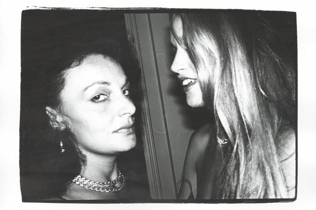 Valentino, Armani, DVF, ODLR in Young Polaroids by Andy Warhol