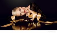 Sasha Luss is Golden in Dior's Christmas 2014 Makeup Ads