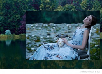 Zen Sevastyanova in Dior Couture for L'Officiel China by Michelle Du Xuan