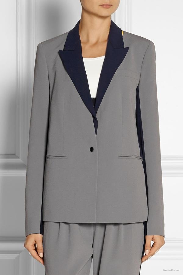 DKNY x Cara Delevingne satin-crepe blazer