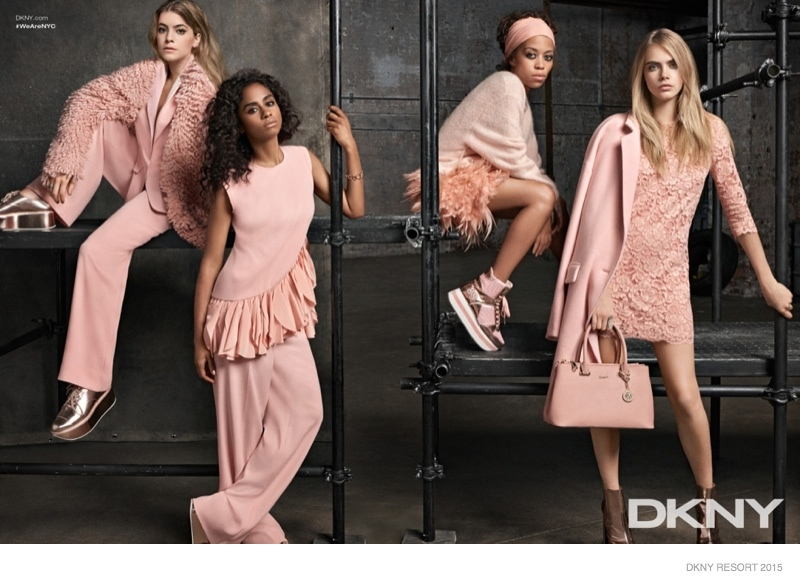 Cara Delevingne & Co. Front DKNY's Resort 2015 Campaign