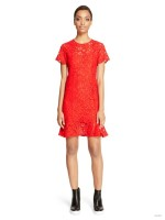 DKNY Flare Hem Lace Dress