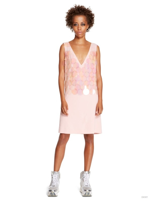 DKNY Paillette Shift Dress