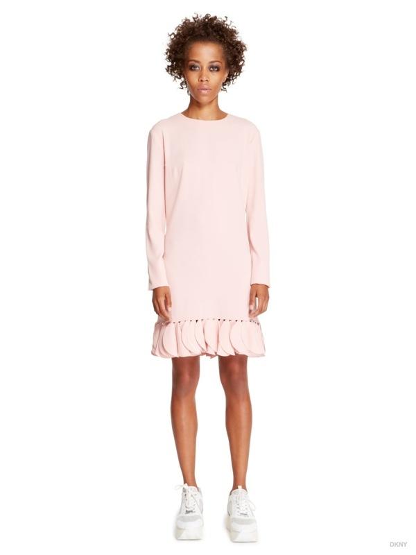 DKNY Petal Hem Long-Sleeve Dress