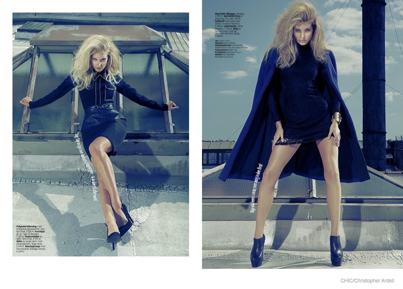 Elsa Hosk Turns on the Glamour for Chic Magazine Story