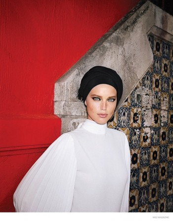Emily DIDonato Dons Black & White Looks in Mexico City for WSJ Magazine
