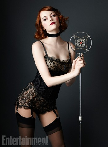 "Lingerie-Clad Emma Stone Gets Into Character for ""Cabaret"" Promo Photo"