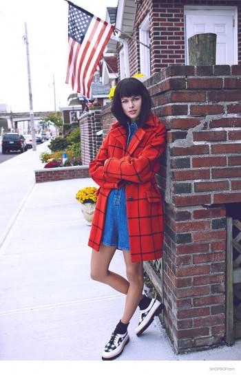 Emma Stern Nielsen Wears Fall Coats for Shopbop Lookbook