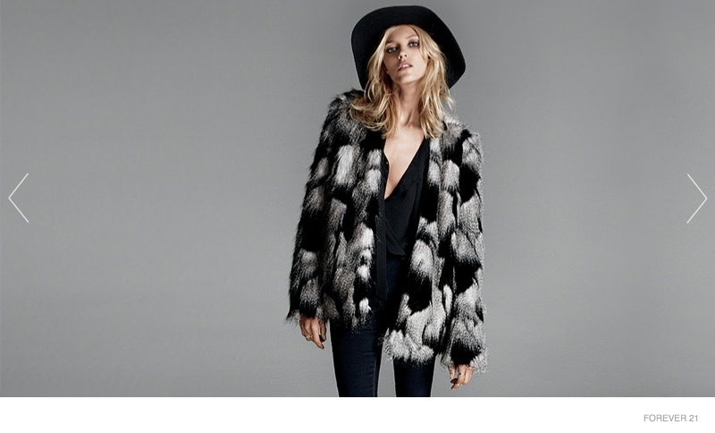 More Photos of Forever 21's Outerwear Edit with Anja Rubik