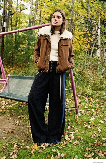 Cate Underwood Wears Outdoors Fashion for Free People