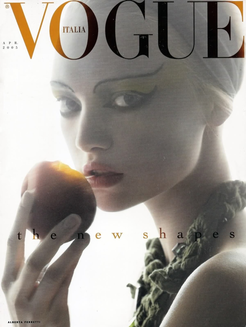 Gemma Ward on Vogue Italia April 2005 Cover