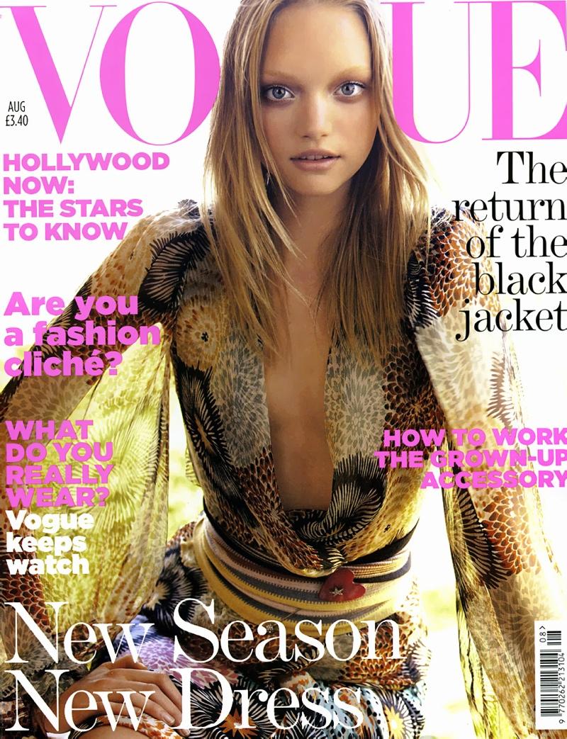 Gemma Ward on Vogue UK August 2005 Cover