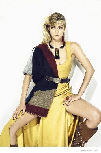Gigi Hadid Goes Western Glam for S Moda Cover Shoot