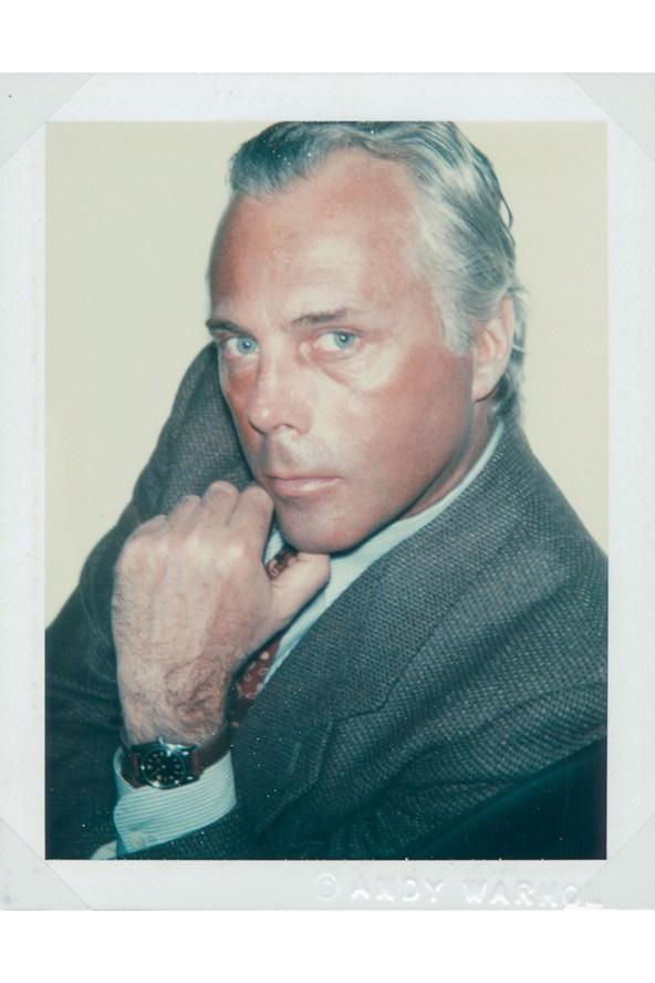 Giorgio Armani. Photo: Andy Warhol/Christies