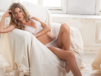 Gisele Bundchen is Heavenly in White Lace for New Intimates Image