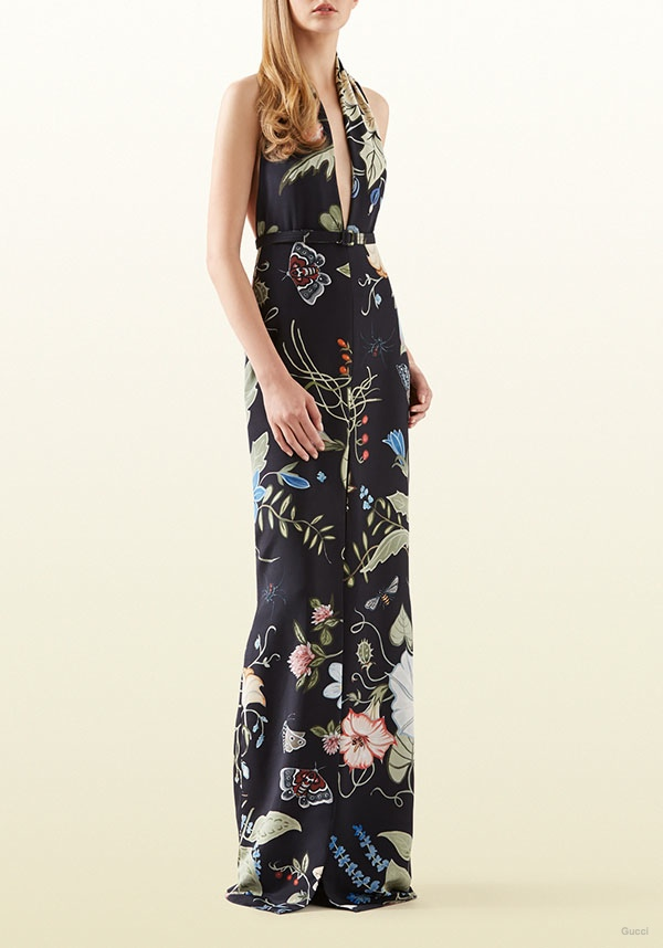 Gucci Flora Knight Print Gown