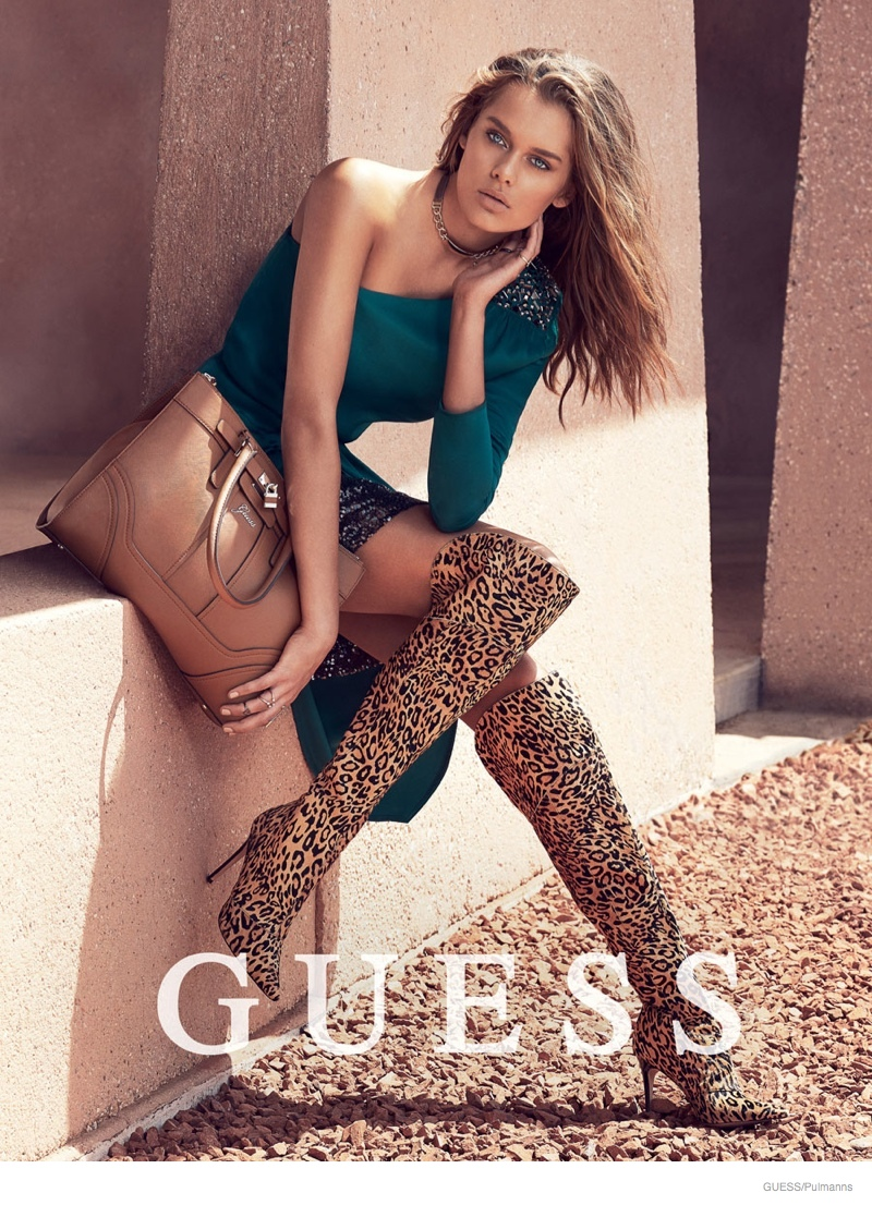 Solveig + Bojana Star in Guess Accessories Holiday '14 Ads by Pulmanns