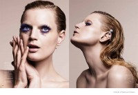 Guinevere Van Seenus Models Eye Makeup for Vogue Japan by Marcus Ohlsson