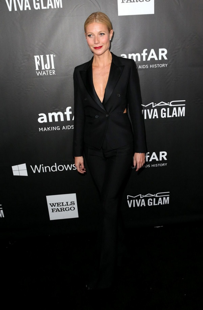 Gwyneth Paltrow stepped out in Tom Ford suit