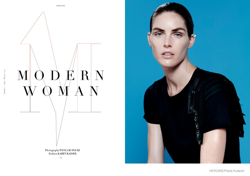 Hilary Rhoda Wears Fall Looks for Heroine Magazine