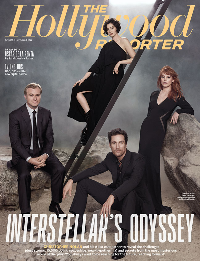 """""""Interstellar"""" Stars Anne Hathaway & Jessica Chastain Cover The Hollywood Reporter"""