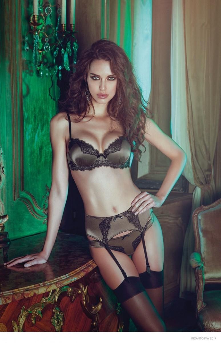Iris Kavka Turns Up the Heat in Incanto Lingerie's Fall 2014 Lookbook