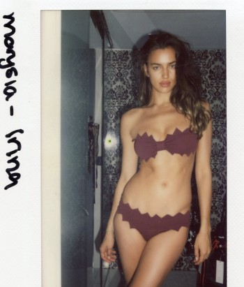 TBT | Irina Shayk Poses in Swimsuits for Sports Illustrated 2013 Polaroids