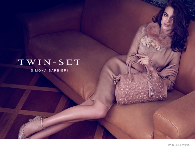 Irina Shayk is a Vision in Twin-Set Handbags Fall 2014 Ads
