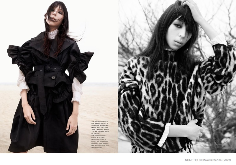 Issa Lish in Fall Layering for Numero China by Catherine Servel