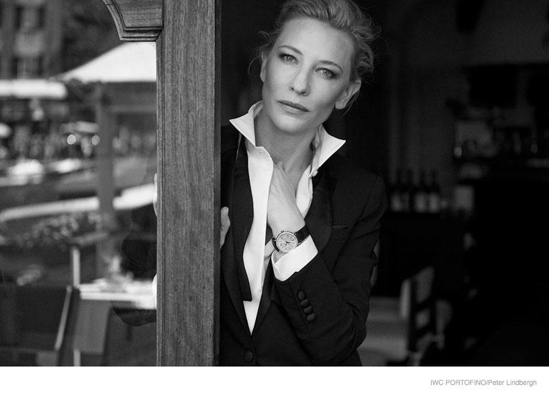 iwc portofino 2014 peter lindbergh ads01 Cate Blanchett, Emily Blunt + Zhou Xun Star in IWC Portofino Ads by Peter Lindbergh