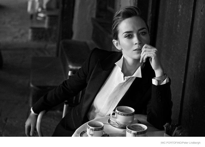iwc portofino 2014 peter lindbergh ads03 Cate Blanchett, Emily Blunt + Zhou Xun Star in IWC Portofino Ads by Peter Lindbergh