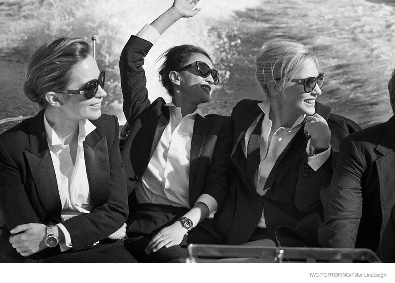iwc portofino 2014 peter lindbergh ads06 Cate Blanchett, Emily Blunt + Zhou Xun Star in IWC Portofino Ads by Peter Lindbergh