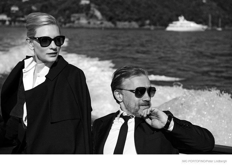 iwc portofino 2014 peter lindbergh ads07 Cate Blanchett, Emily Blunt + Zhou Xun Star in IWC Portofino Ads by Peter Lindbergh