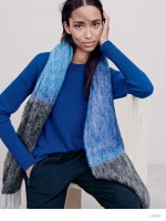Malaika Firth + Anais Mali Pose in Fall/Winter Sweaters for J. Crew