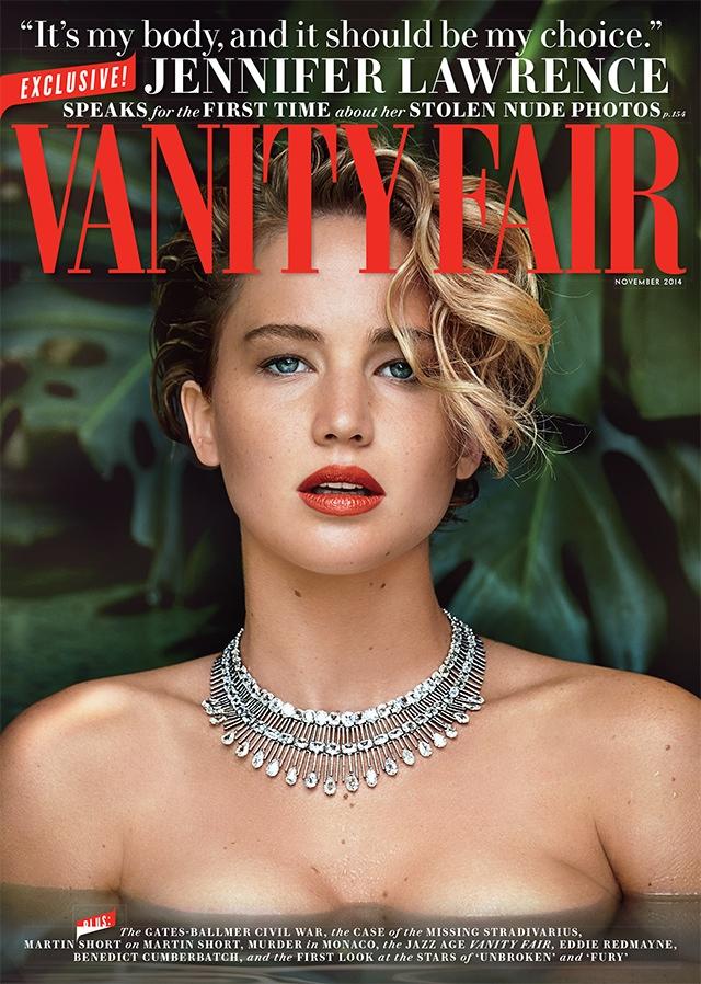 Jennifer Lawrence on Vanity Fair November 2014 Cover