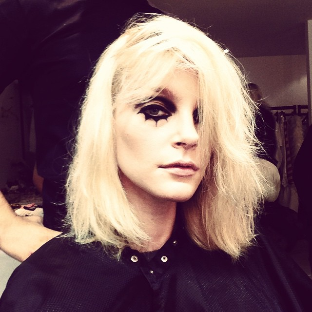 Jessica Stam on set for LOVE Magazine