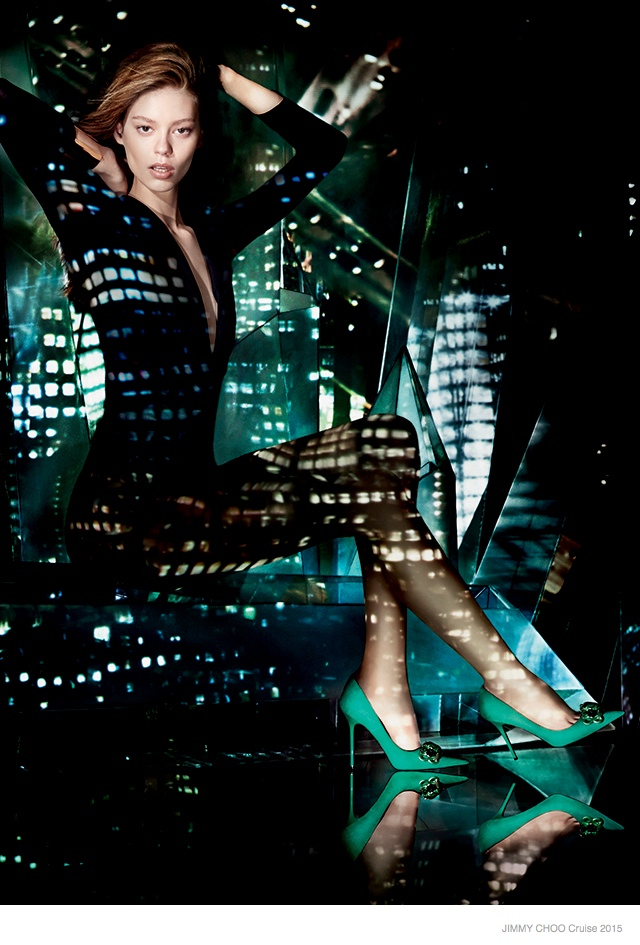 More Photos of Jimmy Choo's Cruise 2015 Ads with Ondria Hardin